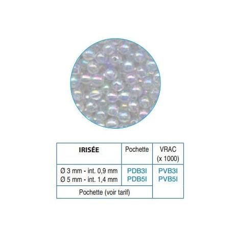 Perles / billes  plastique irisées