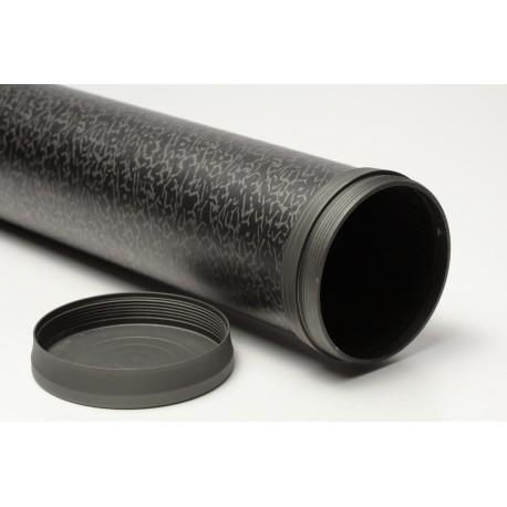 Tube / Fourreau canne à mouche en carbone peint