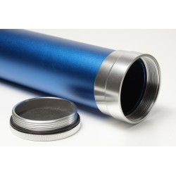 Tube / Fourreau canne à mouche en aluminium bleu