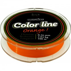 Nylon Pezon & Michel Eaux vives Color Line orange fluo (100 m)
