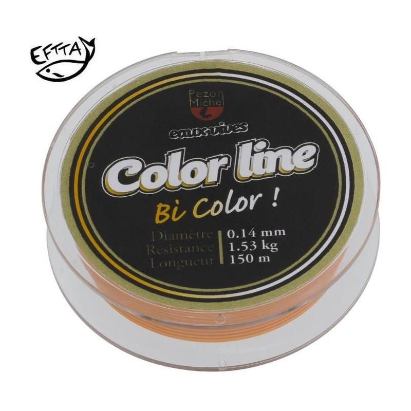 Nylon Pezon & Michel Eaux vives Color Line orange fluo /blanc (100 m)