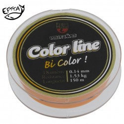 Nylon Pezon & Michel Eaux vives Color Line orange fluo /blanc (100 m)