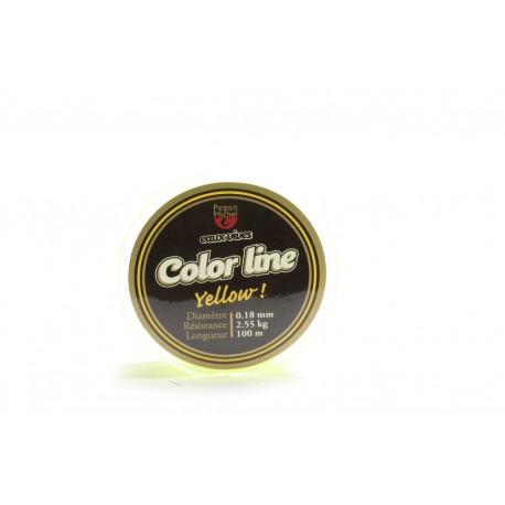 Nylon Pezon & Michel Eaux vives Color Line Jaune fluo (100 m)